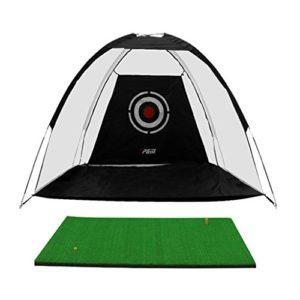 Filets de Pratique de Golf, de Golf Portable Net Net de Pratique intérieure Net Formateur de Jeu Professionnel de Golf avec Tapis (Color : Black, Size : 300 * 200cm/118.1 * 78.7inch)