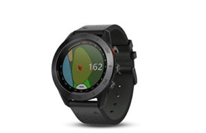 Garmin Approach S60montre GPS de golf avec bande de cuir noir, 3cm