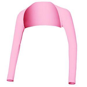 Hairwilly Advanced anti-UV Manchettes de refroidissement Châle protection solaire confortable et respirant pour femme Golf & Sports de plein air, rose, moyen