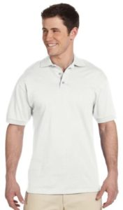 Jerzees – Polo – Avec boutons – Homme – Blanc – Small