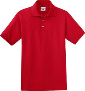 Jerzees – Polo – Avec boutons – Homme – Rouge – Small