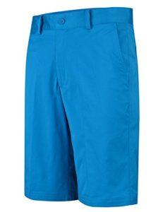 Lesmart Homme Short Golf Chino Coton Stretch Ete Pantalon Bermudas Slim Travail FR 42=US 32» Taille 44cm Bleu