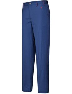Lesmart Pantalon Golf Homme Chino Stretch Coupe Droite Long Casual Regular Taille 30W/32L Taille 76cm Blue Marine M Logo