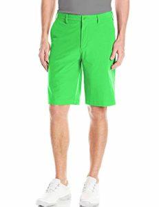 Short Golf Homme Bermuda Chino Été Solid Voyage Plaid Pantalon Court FR 42=US 32» Taille 44cm Vert