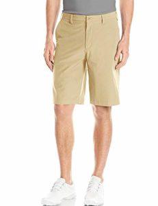 Short Golf Homme Bermuda Chino Été Solid Voyage Plaid Pantalon Court FR 44=US 34» Taille 46cm Khaki