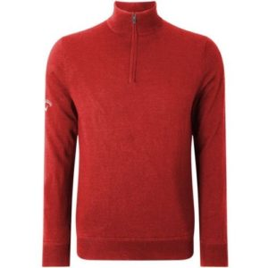 Callaway Windstopper 1/4 Zipped Pull de Golf, Homme XXL Rouge