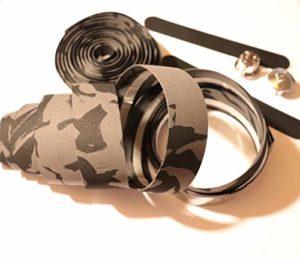 carbonenmy h?herwerte Bracelet de Guidon en liège, Noir/Gris