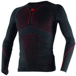 D-Core Thermo Tee Ls, Noir/Rouge, Taille XL/X