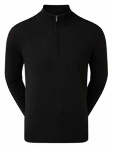Footjoy Blend 1/2 Zip Lined Pullover Pulls, Noir (Negro 90207), Large Homme