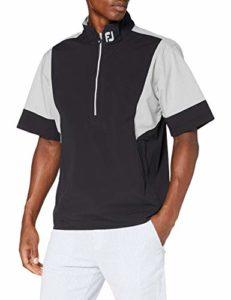 Footjoy Hlv2 Short Sleeve Rain Shirt Veste Homme, Noir/Gris, M