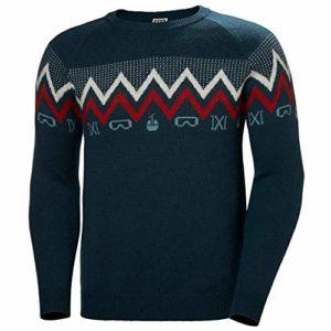 Helly Hansen Wool Knit Sweatshirt Homme Sweatshirt Homme Bleu FR : S (Taille Fabricant : S)