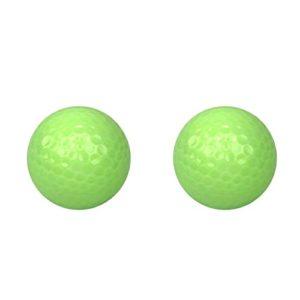 Homyl 2 x Balle de Golf Lumineuse 47.7mm Brille dans Nuit Entraînement Golf Cadeau Golfeur