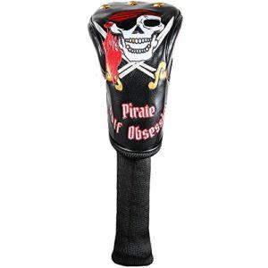 Housses de clubs de golf motif pirate, Black Driver Cover