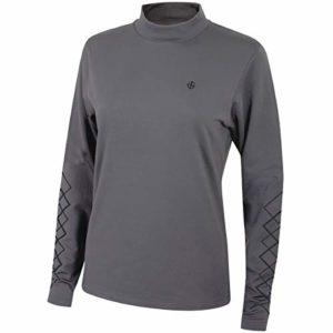 Island Green Igltop1843 Full Zip Water Repellent Vêtements de Corps de Sport Femme, Bedrock Grey, 18