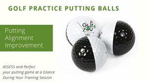Pack de 3 Balles d'entrainement au Putting – True Roll Putting Ball – Accessoire de Golf Special Putting. ÉVALUEZ et Perfectionnez Votre Trajectoire de Balle Pendant Vos Sessions de Practice