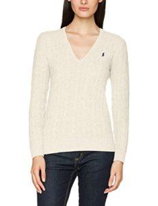 Polo Ralph Lauren Kimberly LS SWT, Polo Femme, Beige (Cream B1D55), L
