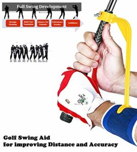 Swing Guide Trainer – Accessoire d'Aide à l'Entrainement et d'Echauffement – Outil de correction pour améliorer toutes les positions du Swing et ajuster les poignets de manière simple et efficace