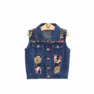 1-6 Année Bébé Enfants Denim Gilets Nouveau Printemps Et Automne Coton Garçons Gilets De Mode Bebe Filles Vêtements Survêtement Colete Multi 8