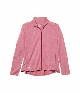 Adidas Veste en tricot chiné pour fille, Garçon, Blouson, Heathered Knit Jacket, Mélange Power Berry, X-Large
