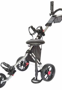 Caddytek Siège Amovible Unisexe pour Chariot de Golf CaddyLite série 11.5 Noir Taille Unique