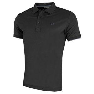 Callaway Contrast Tipped Polo de Golf pour Homme L Noir