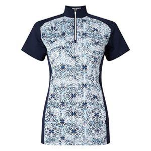Callaway Kaleidoscope Print Mock Polo de Golf pour Femme XL Bleu