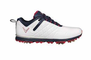 CALLAWAY W637 Lady Mulligan, Chaussure de Golf Femme, Blanc/Bleu Marine, 42 EU
