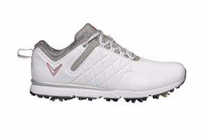 CALLAWAY W637 Lady Mulligan, Chaussure de Golf Femme, Blanc/Chaleur, 36.5 EU