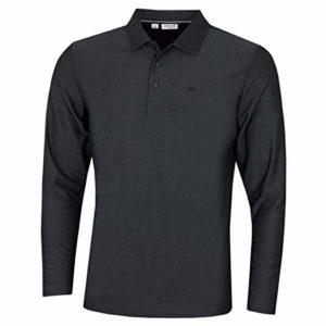 Calvin Klein Hommes Manches Longues Central Light Polo de Golf – Charcoal Marl L