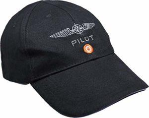 Casquette Design4Pilots Noire en Coton, aviation, pilote