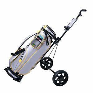 Chariot de golf mixte en acier à 2 roues pour chariot de golf – Noir