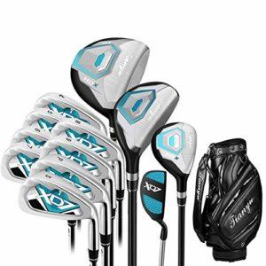 CHENSHJI Déchiqueteuses Ensemble de Club de Golf 12 pièces de Golf Novice pour Hommes Bleu Golf Club de Pratique de Golf mis en Place pour Les Gants de Neuf Golf pour Hommes