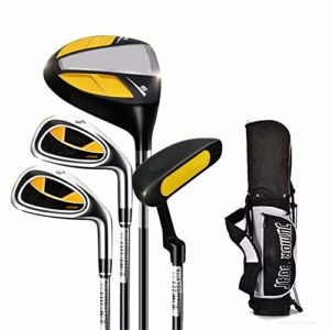 Confort Du Putter De Golf Traditionnel Club de pratique de golf intérieur et extérieur en caoutchouc de putter de golf des enfants pour 3-12 ans garçon et fille avec le sac de golf, 1 ensemble