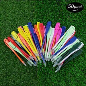 Couleurs variées Golf Score Crayon en plastique avec clip–-Pack de 50