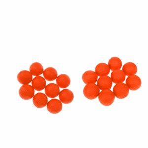 CUTICATE Balles de Golf en Mousse PU Souple 20 Pièces, Balle de Pratique, Rebondissante 1.65 Pouces