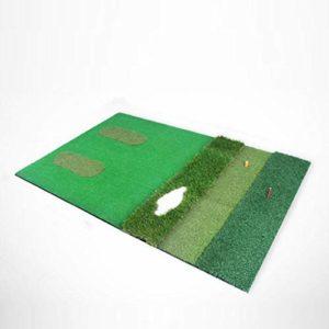 Dongy Tapis d'entraînement d'intérieur de Tapis de Ballon d'exercice d'intérieur de Tapis de Golf multifonctionnels 100 * 150cm