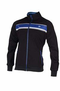 DUNLOP Essentials Line-Warm Up Jacket Garçon, Anthracite/Cobalt, XXL