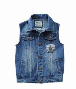 Enfants Cowboy Gilet Garçons Couleur Unie Jean Vestes Filles Vêtements Coton Lavé Vêtements de Dessus Printemps Automne 6