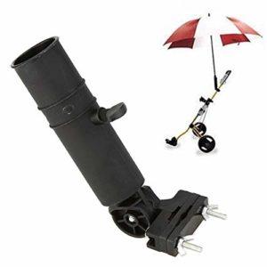 Enticerowts Support de parapluie de golf universel réglable pour chariot de golf, chariot de chariot ou fauteuil roulant