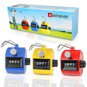 ewinever (R) Lot de 3ABS main Held Compteur manuel 4chiffres Compteur Bouddha chiffres Clicker de Golf