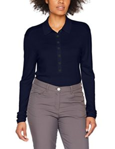 Falk 37686 Polo à Manches Longues boutonnière Femme, Dark Night, FR (Taille Fabricant : XS)