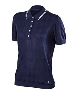 Falke 37832 Polo Femme, Space Blue, FR : M (Taille Fabricant : M)