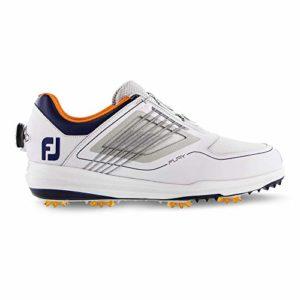 FootJoy Men's FURYBoa Golf Shoes White 11 M Grey/Navy, US