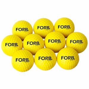 FORB Balles de Golf en Mousse (Lot de 12) | Balle d'entrainement de Golf Intérieur et Extérieur | Balles de Practice de Golf | Golf Balls en Mousse