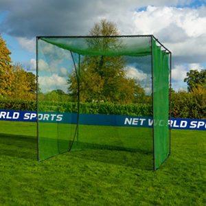 FORB Cage de Golf avec Filets d'Entraînement – Cage et Filet Autoporteurs pour Le Jardin (3m x 3m x 3m)