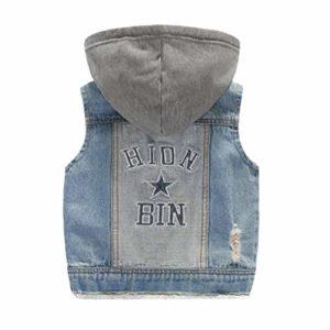 Gilets à Capuchon Garçons Filles Jeans Veste Gilets en Denim Vêtements de Dessus Vêtements Printemps Automne Vêtements 1 9M