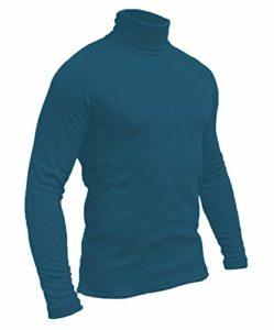 Hann Brooks Polo de ski de golf en coton doux pour homme Noir/marron/bordeaux/gris, vert, bleu marine/blanc S M L XL 2XL 3XL 4XL – Bleu – X-Large