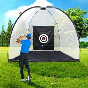 HWLY Golf Hitting Net Driving Range Filets De Pratique De Golf pour Une Utilisation en Intérieur avec Un Sac De Transport Cible (Version améliorée)