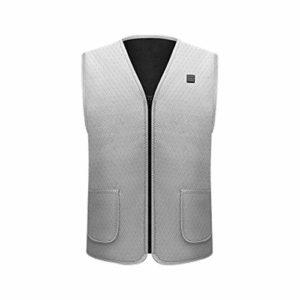 HYRL Gilet Chauffant électrique, vêtements de Veste chauffante, Gilet Chaud de Chargement USB avec température réglable pour Chauffe-Corps en Hiver, Camping en Plein air…
