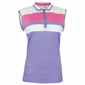 Island Green IGLTS1815 Polo de Golf pour Femme Lavande givrée Rose Taille 16